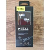 НАУШНИКИ INKAX E-58 metal (белые,черные,золотые) с микрофоном